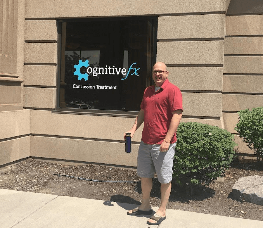 Sam at Cognitive FX, where he received treatment for his lingering TBI symptoms