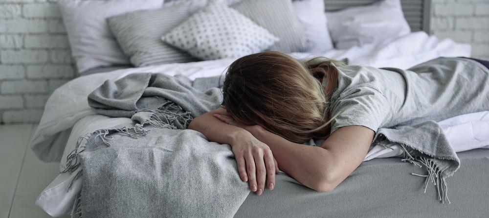 Women lying in bed