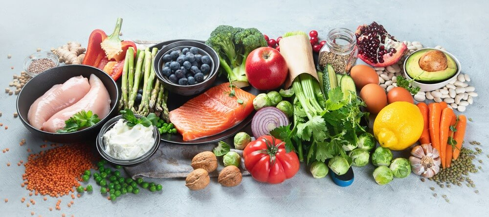 Eating a balanced diet can help symptoms.