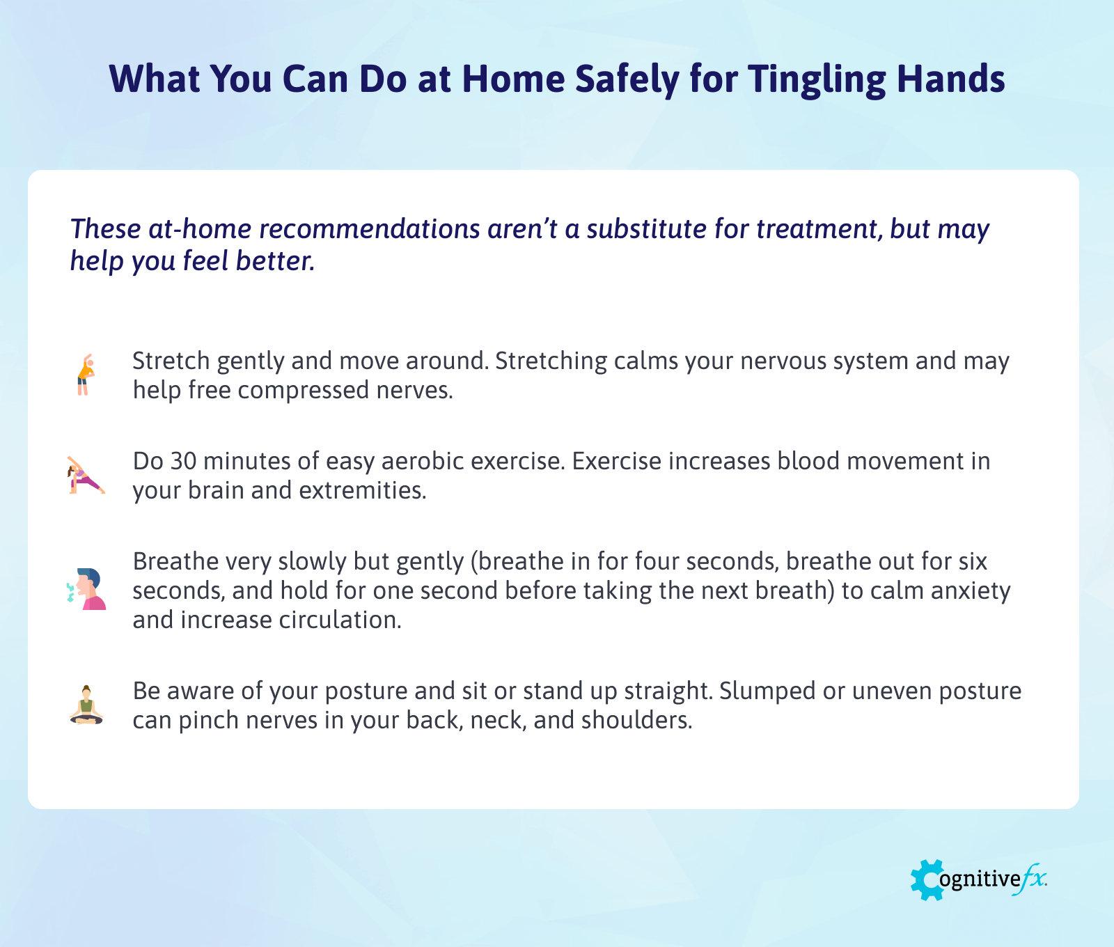 List of things that can be safely done at home