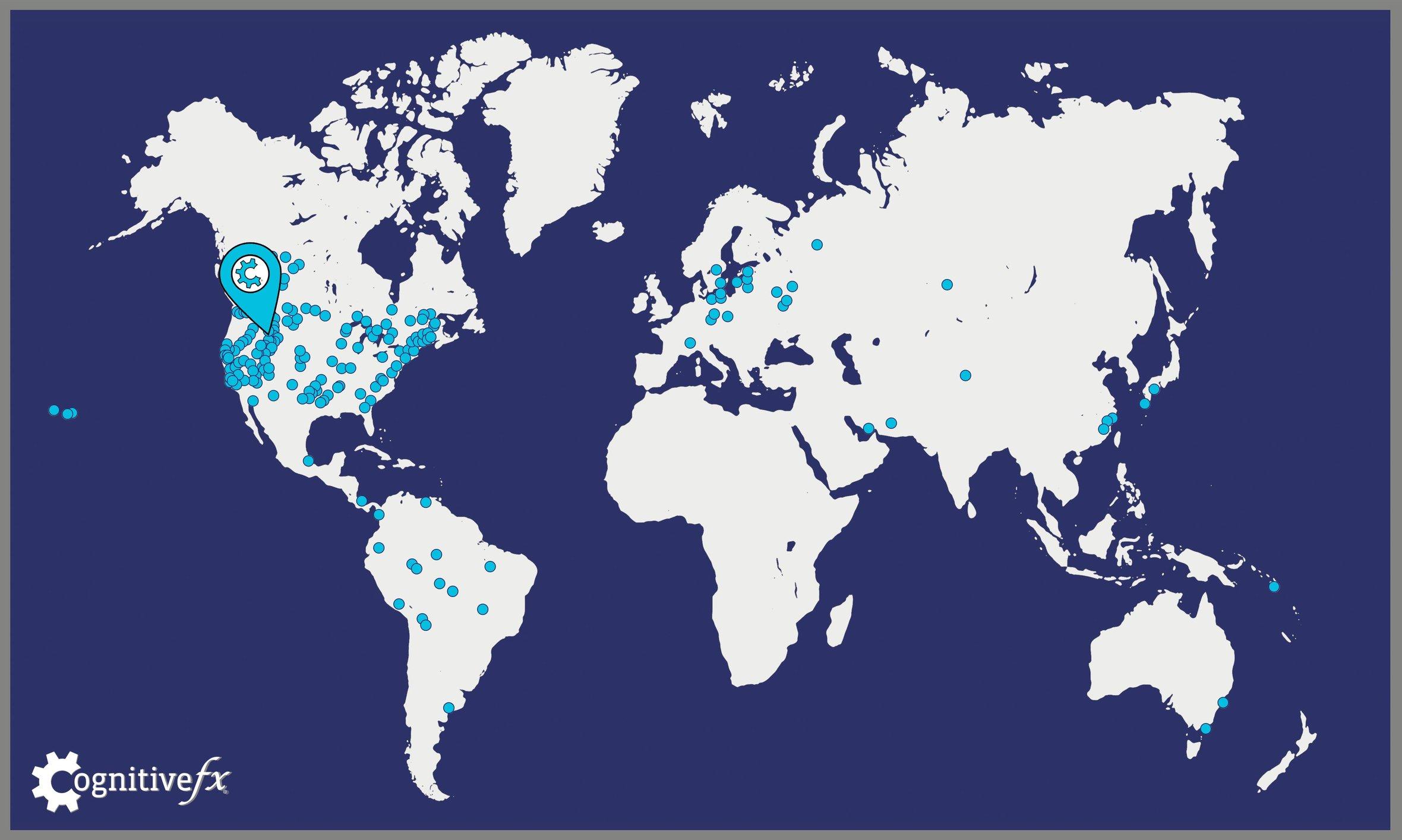 cfx patients around the world map