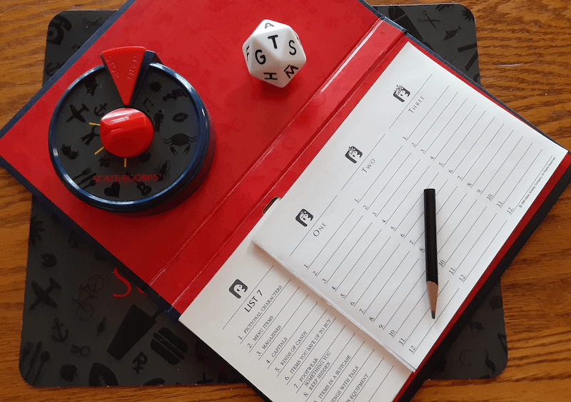 Cognitive Exercises: Scattergories