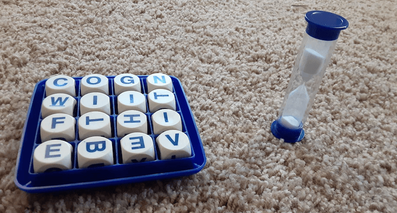 Cognitive Exercises: Boggle