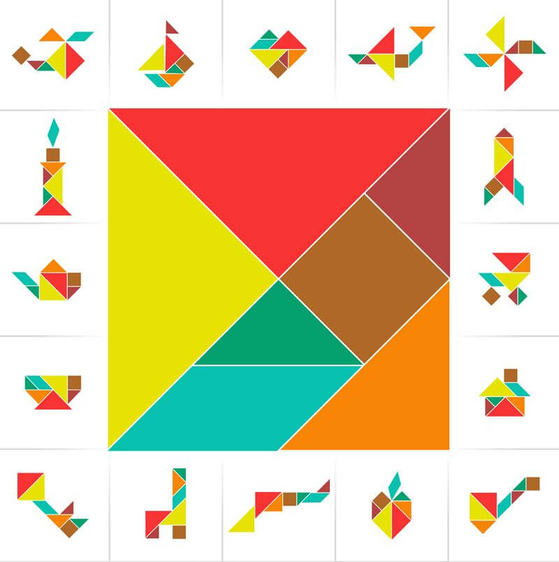 Cognitive Exercises: Tangrams