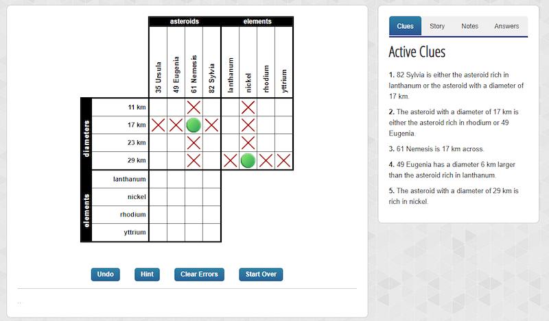 Cognitive Exercises: Logic Puzzles