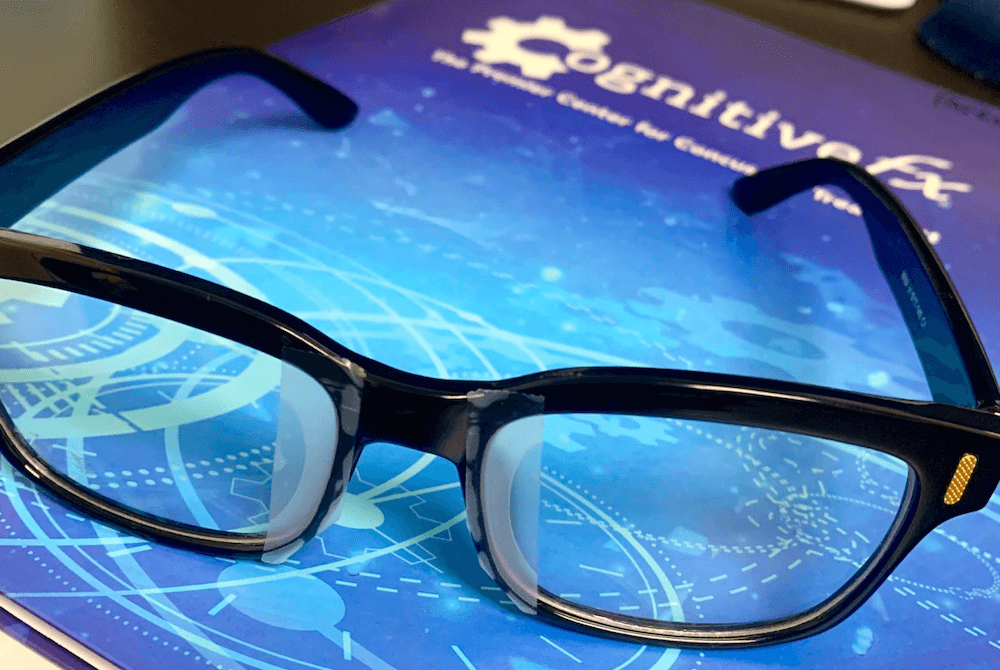 Binasal occlusion glasses