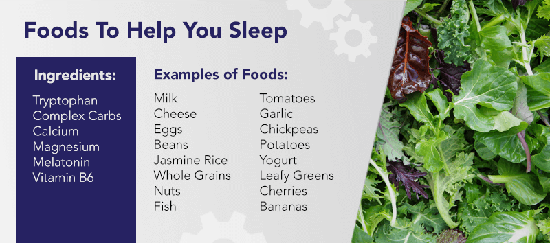 Post-concussion syndrome sleep is affected by your diet. Consider these foods to help your sleep.