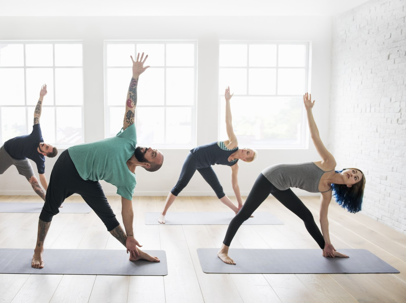 doing yoga an aerobic exercise to benefit the brain